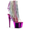 ADORE-1017RSF Clear/Multi Fuchsia Chrome